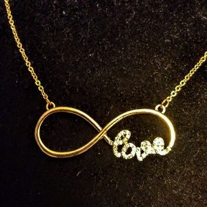 Jewelry - Gold tone infinity love necklace